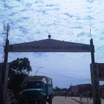 Toegangspoort stad Kananga